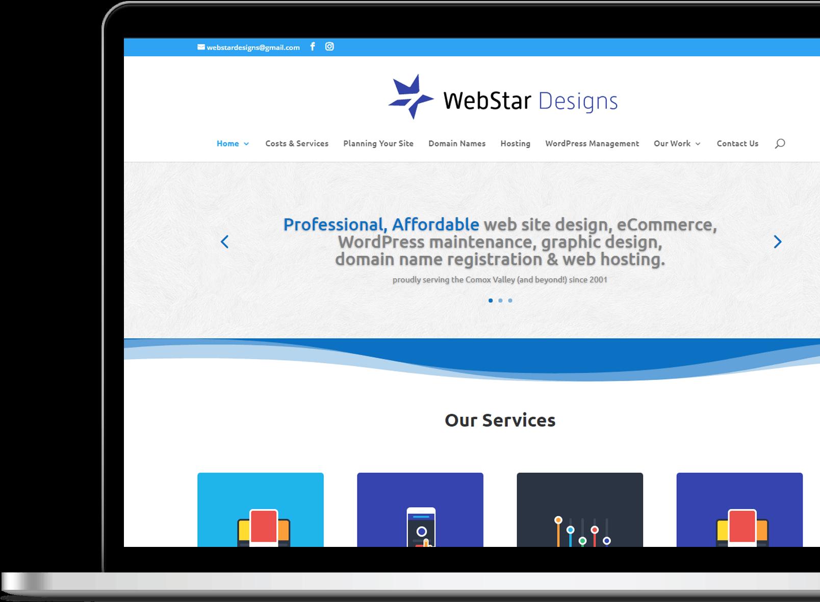 previous work by WebStar Designs - Comox Valley web designer