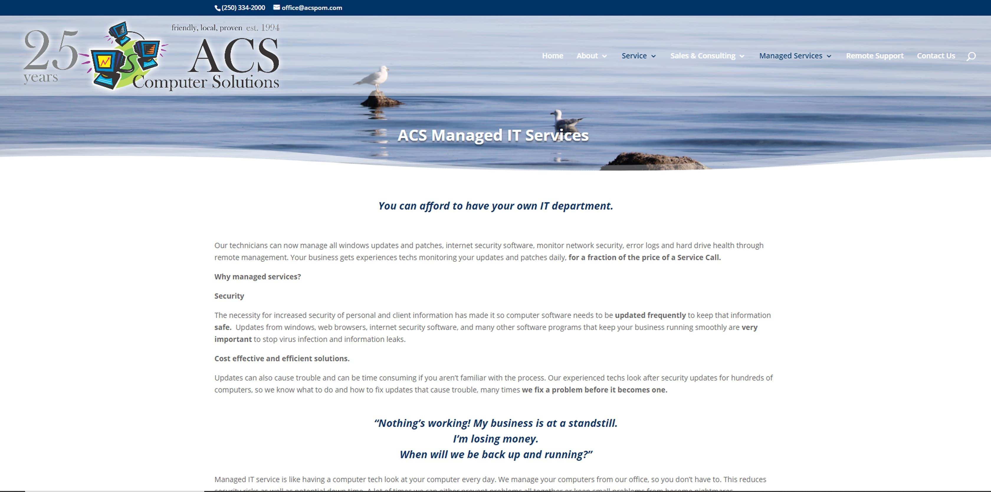 ACS Computer Solutions, Courtenay, BC